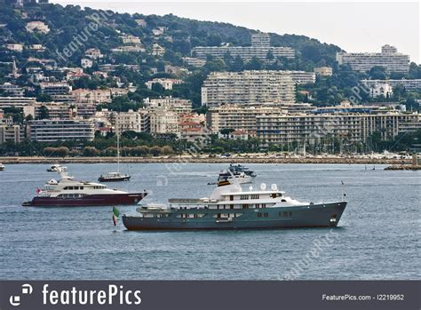 ferry boat cost watercraft ferry on coast of cannes stock picture