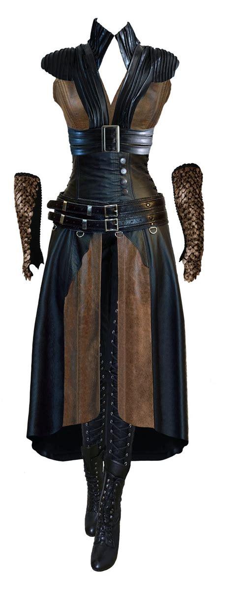 steunk fantasy art fashion wraith queen fireshade costume concept art by utan77