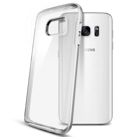 Spigen Neo Hybrid Galaxy S7 Satin Silver Original spigen funda neo hybrid satin silver para samsung galaxy s7 edge pccomponentes