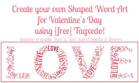 links to love a valentine s day edition momof6 free shaped word art online valentine s day edition