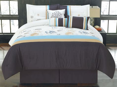 sea life bedding 7 piece king oceana sea life bedding comforter set ebay