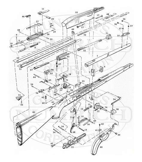 remington 66 parts diagram 76 schematic numrich