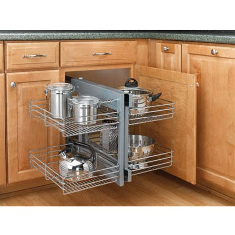 Blind Kitchen Cabinet Organizer Rev A Shelf Kitchen Blind Corner Cabinet Optimizer Maximizes Space In Blind Corner Cabinets