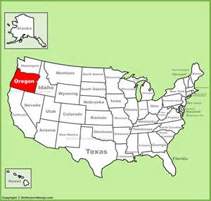 oregon location on the u s map