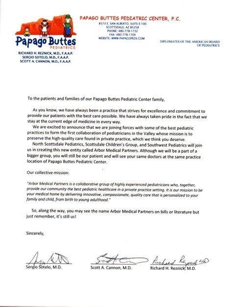 Patient Letter No Longer Accepting Insurance Home Papago Butte Pediatrics