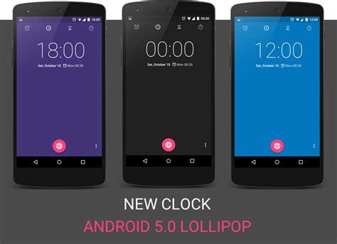 android lollipop 5 0 android 5 0 lollipop clock changes colors throughout the day screenshots the android soul