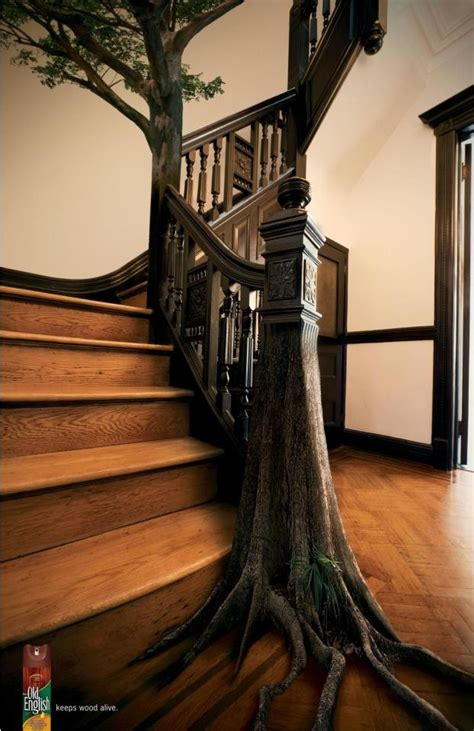tree stair railing for the home pinterest