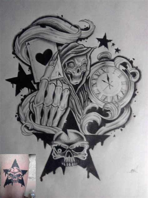 tattoo sleeve flash designs time to die by karlinoboy deviantart on deviantart