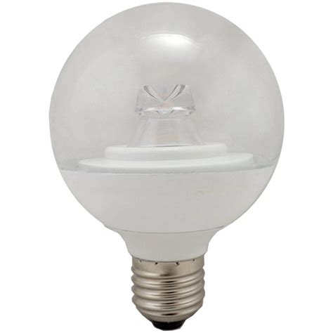 Globe Led Light Bulbs 05726 G80 Globe Led Light Bulb 7w Es E27 Clear 2700k Warm White