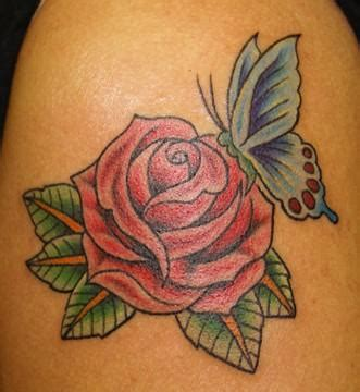 tattoo butterfly and rose butterfly rose tattoos