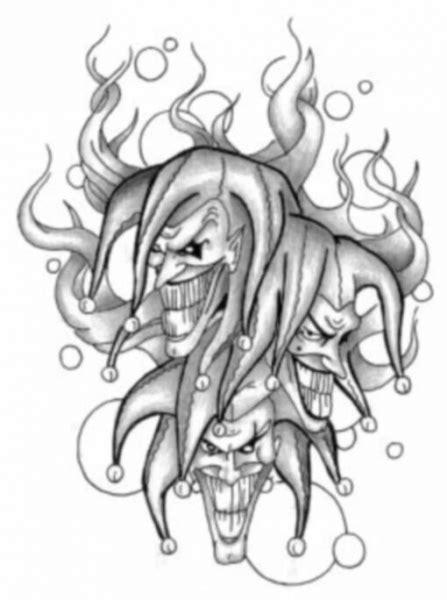 tattoo voorbeelden joker 40 best clown tattoo designs