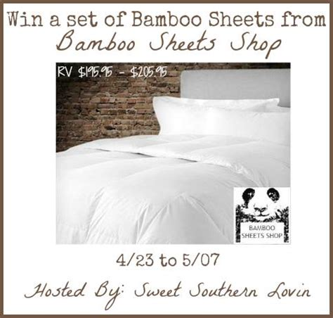 Sheets Giveaway - enter to win a set of bamboo sheets giveaways