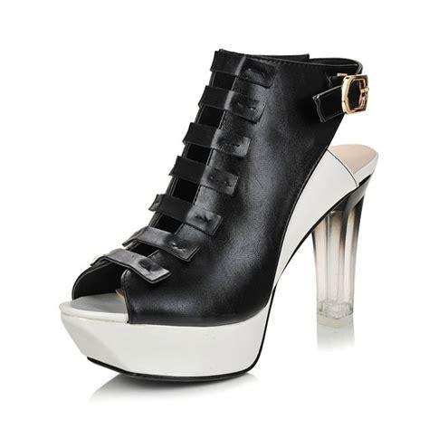 black chunky gladiator sandals fashion chunky high heel gladiator black pu sandals