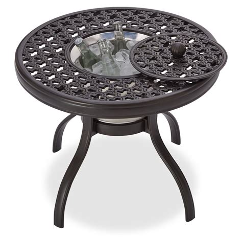 Amazon Com Strathwood Whidbey Cast Aluminum Fire Pit With Pit Patio Table