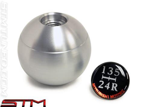 stm oem mitsubishi silver 5 speed shift knob evo vii