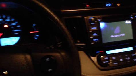 2016 toyota rav4 xle led lights 2013 toyota rav4 quick interior look at night youtube