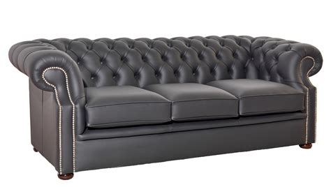 grey settee chesterfield sofa grey leather chesterfield grosvenor 3