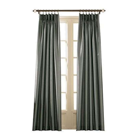 pinch pleat silk drapes curtainworks marquee faux silk pinch pleat curtain panel