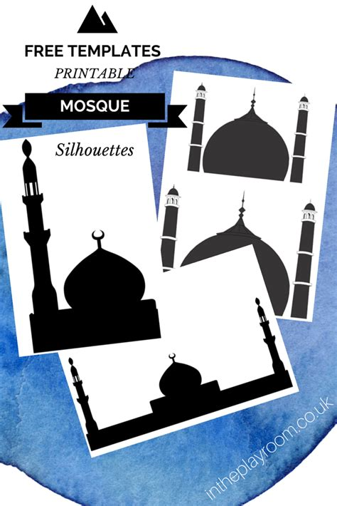 mosque pledge cards template cutting sticking mosque pictures with free printable