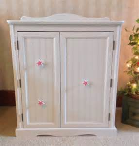 american doll furniture wardrobe armoire storage for