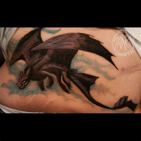 toothless tattoo toothless by sarra lynnette tattoos by