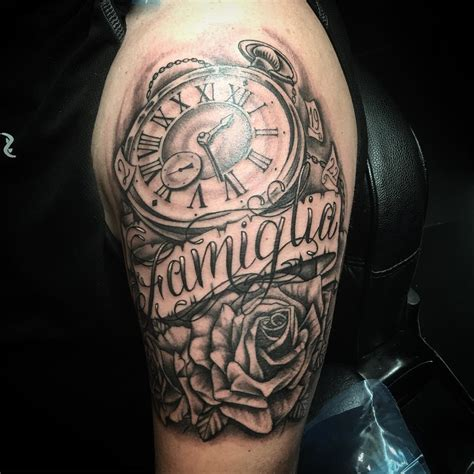 first tattoo for men family on shoulder