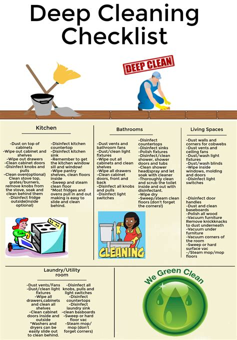 deep cleaning house checklist what is a deep cleaning compare the difference eco