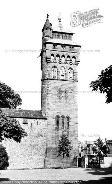 Castle Towers Gift Card - cardiff castle clock tower c 1960 francis frith