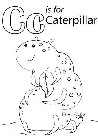 letter c caterpillar coloring page letter c is for caterpillar coloring page free printable