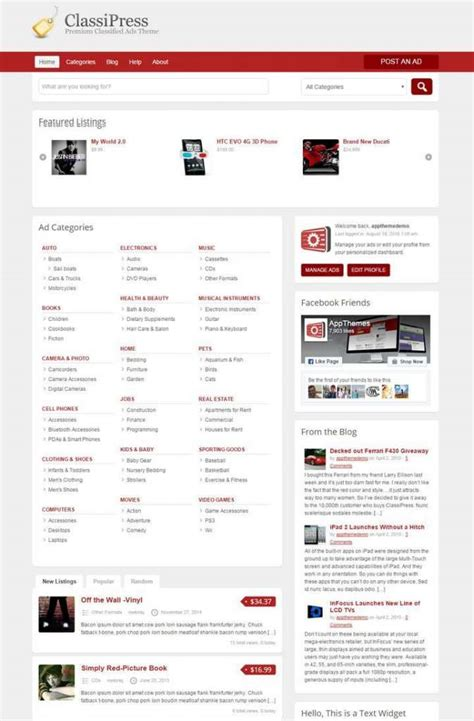 adsense squarespace classipress wordpress theme download review 2018