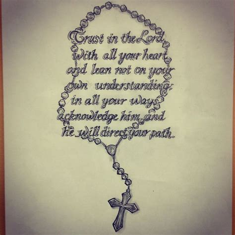 bible scripture rosary tattoo sketch by ranz pinterest
