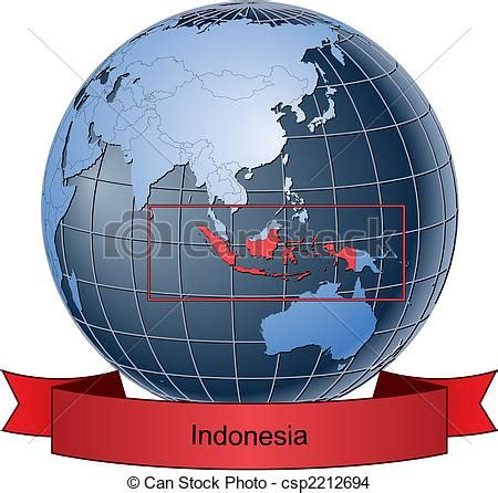 Pisau Royalty Line Di Indonesia eps vector of indonesia position on the globe vector version with csp2212694 search clip