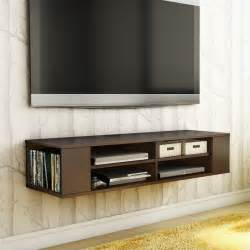 mounted tv stands south shore city wall mounted media console chocolate