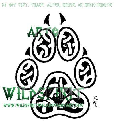 celtic dog tattoo celtic knot paw print designs