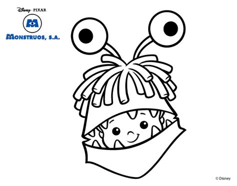 free coloring pages of boo from monsters inc
