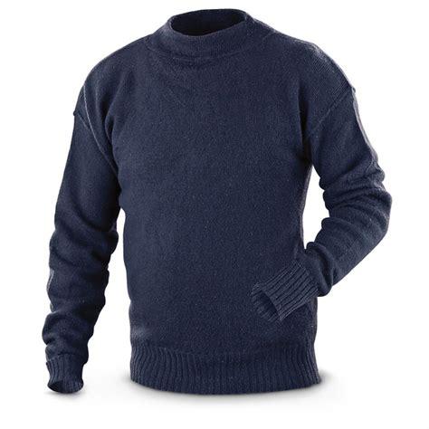 Sweater Navy used u s surplus wool sweater 619360 sweaters
