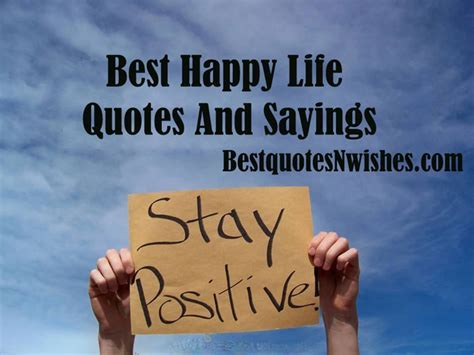 Best Happy Life Quotes And Sayings   Best Quotes And Wishes