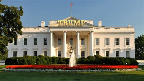 trump house turning the white house into the new headquarters for