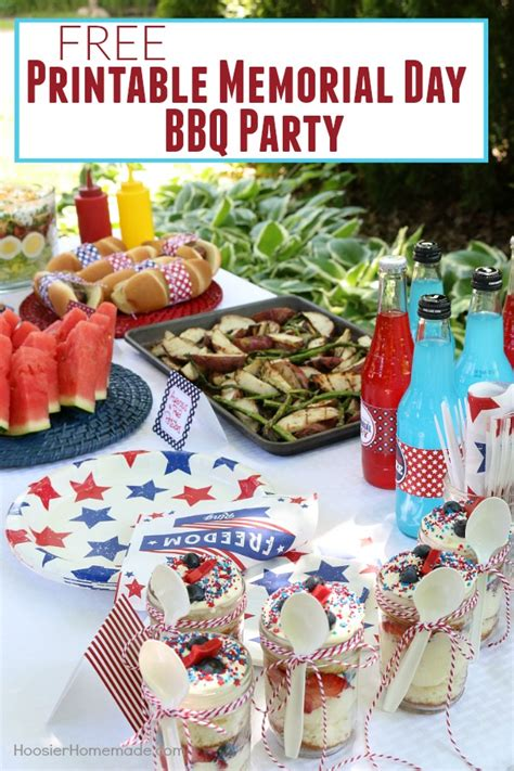 printable bbq recipes printable memorial day bbq party hoosier homemade