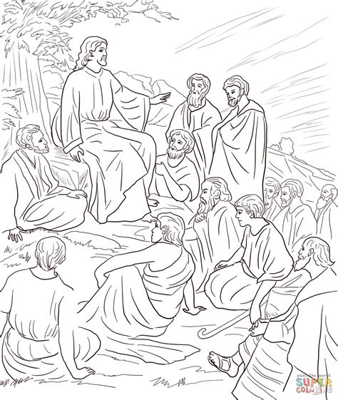 coloring pages jesus teaching 301 moved permanently