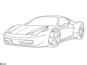 How To Draw A 458 Italia 458 Italia Lineart By Etonadler On Deviantart
