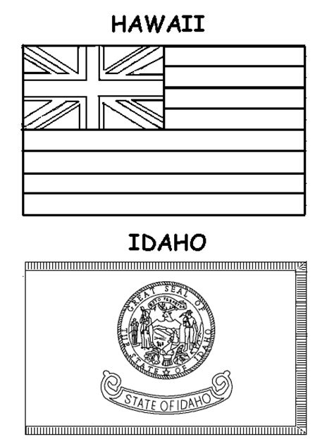 gallery for gt hawaii state flag coloring page