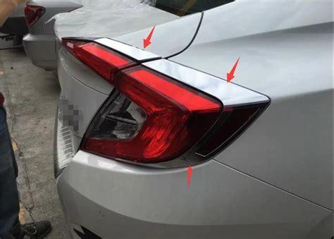 Stop L Honda Civic 2016 On Sedan Light Bar Smoke accessories for honda civic sedan 2016 2017 chrome rear light eyelid trim ebay