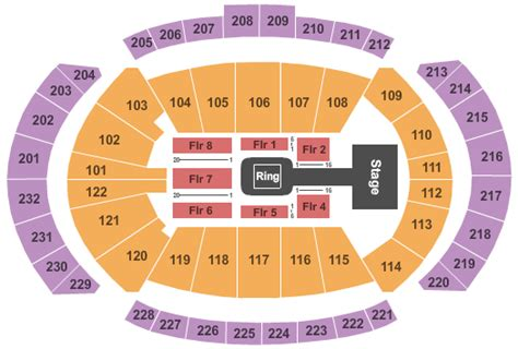 sprint center floor plan wwe smackdown tickets kansas city sprint center 5 3 2016
