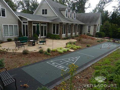 backyard shuffleboard court onelawn outdoor shuffleboard courts court construction