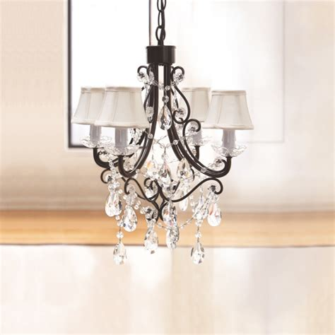 chandelier with black shade black chandelier w mini shades 90689