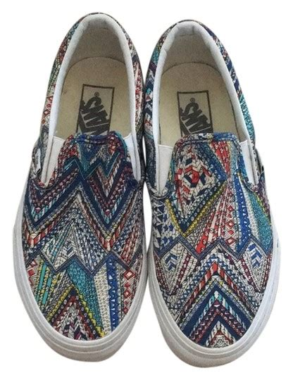 colored vans vans multi colored athletic shoes on sale 35