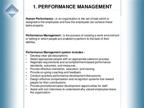 Performance Management Notes For Mba by Koray Kırdinli Hr Performance Managegement E Mba Project
