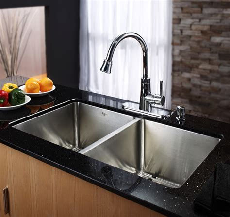 Kraus Usa Sinks by Kraus Khu10233 33 Inch Undermount 50 50 Bowl