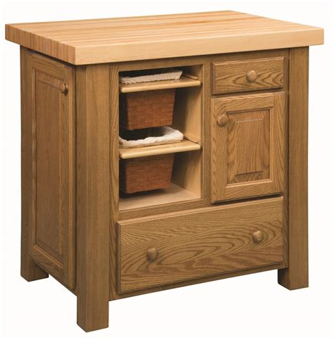 amish furniture kitchen island amish kitchen island with baskets